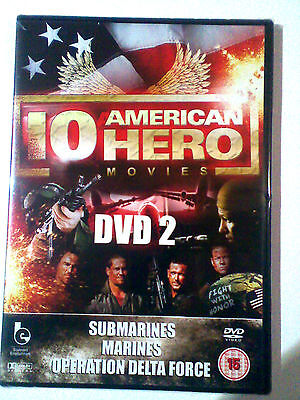 3 movies - Submarines + Marines + Operation Delta Force Vol 2 DVD NEW slim case