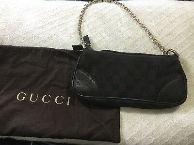 a9642ee8135e Small Brown Gucci Bag New NWT Gold Chain Dust Bag Guaranteed Authentic
