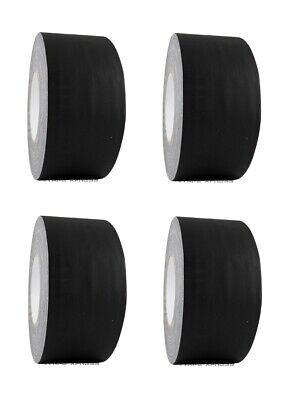 """4 Rolls 3"""" x 60 yd Gaffers Black Audio Stage Adhesive Tape Spike Tape No Residue"""