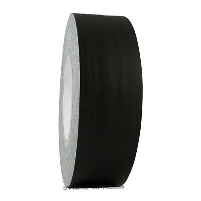 """2"""" x 60 yd Gaffers Black Audio Stage Adhesive Tape / Spike Tape No Residue"""