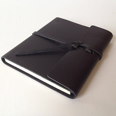 RUSTICO Writers Log Small Leather Journals Notebooks Diary Gifts Black