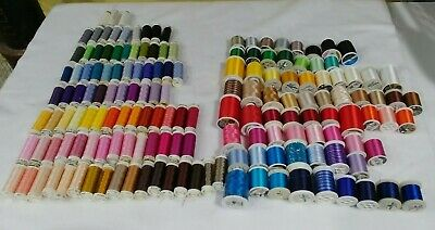 OVER $600 of Beautiful Quality Machine Embroidery Threads! 161 Spools!