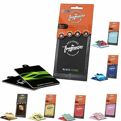 20 x Designer Fragrances Car Air Fresheners Freshners VARIOUS SCENTS Black Code