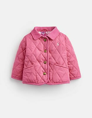 Joules Baby 124946 Quilted Jacket 0 3 in TRULY PINK Size 0min3m