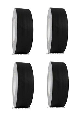 """4 Rolls 2"""" x 60 yd Gaffers Black Audio Stage Adhesive Tape Spike Tape No Residue"""