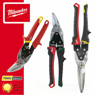 Milwaukee Metal Snips - Straight / Long / Left Cut / Right Cut - Aviation Snips