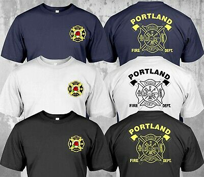 NEW Portland Fire Department Fire and Rescue Firefighter - Custom T-Shirt