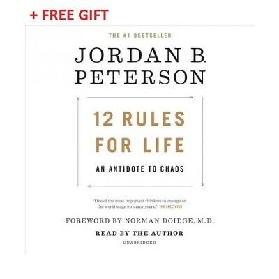 12 Rules for Life :An Antidote to Chaos Jordan B Peterson +GIFT Read Description