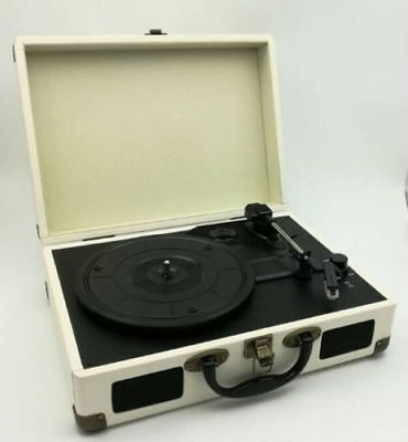 Briefcase Record Player Turntable Portable Vinyl Suitcase USB Dad Mens Man Gift