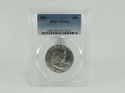 1962 PCGS MS64 50C Franklin Half Dollar Uncirculated Certified Coin AH0195