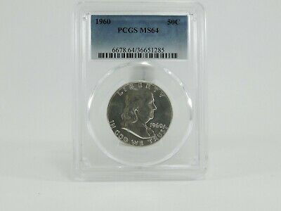 1960 PCGS MS64 50C Franklin Half Dollar Uncirculated Certified Coin AH0217