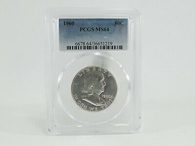 1960 PCGS MS64 50C Franklin Half Dollar Uncirculated Certified Coin AH0218