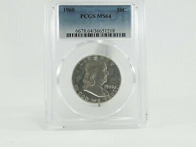 1960 PCGS MS64 50C Franklin Half Dollar Uncirculated Certified Coin AH0219