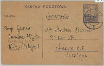 74117 Lithuania polish occup. - POSTAL HISTORY - STATIONERY CARD from VILNIUS