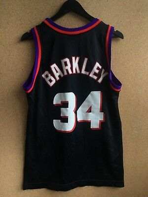 90659a7405ba Men s Champion NBA Phoenix Suns Charles Barkley  34 Jersey Vintage Shirt USA  M