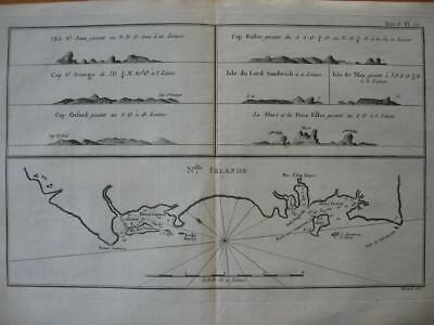 1774 - COOK -  Map NEW IRELAND with profile views