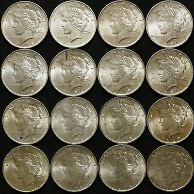 1923 Peace Silver Dollars 16-Coin Lot