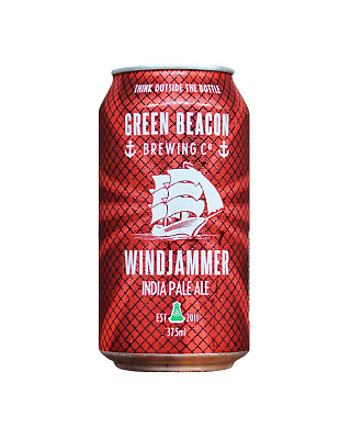 Green Beacon Brewing Co Windjammer India Pale Ale Cans 375mL Beer case of 24