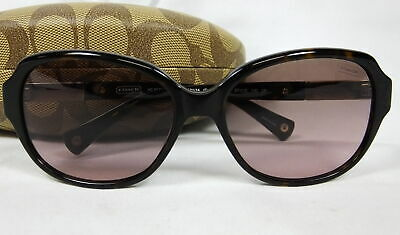 0528f2c5fa85 Coach HC8039 L039 Annette 5001/14 Dark Tortoise Brown/Gold Womens Sunglasses  NEW