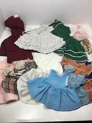 Vintage Doll Clothes 1950's-60's Mostly Hand Made Assorted Sizes Large Lot