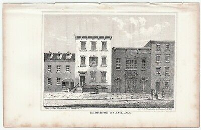 SUPER Lithograph Print - Eldridge Street Jail New York NY - 1860 - Police NYPD