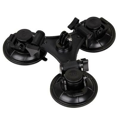 Triple Suction Cup Low Angle Sucker Mount for GoPro 4 5 6 7 Black Silver White
