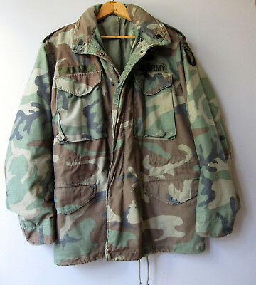d437fd98ee298 US Army Military M65 Camouflage Camo Field Jacket Coat Cold Small Woodland  USGI