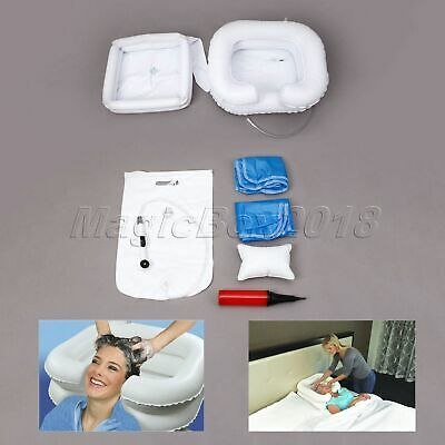 PVC White For Disabled Elderly Inflatable Portable Shampoo Hair Washing Basin