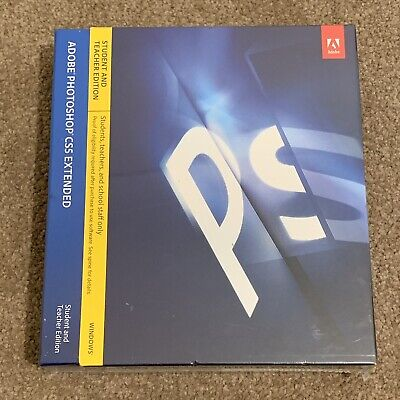 Adobe Photoshop CS5 Extended Student and Teacher Edition *NEW & SEALED* Windows