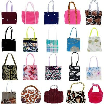 5 Random Fashion Lady Daily Purse Bag Handbag Accessory Clothes for 12 in. Doll