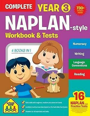 Year 3 Complete NAPLAN- Style Workbook and Tests : School Zone