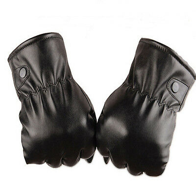 Mittens Warm Winter Gloves Driving Men's Women Leather Gloves Touch Screen Good
