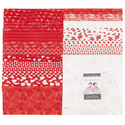 QUILTING FABRIC LAYER CAKE - REDiculously In Love by Me & MY SISTER SAVE $$$$$
