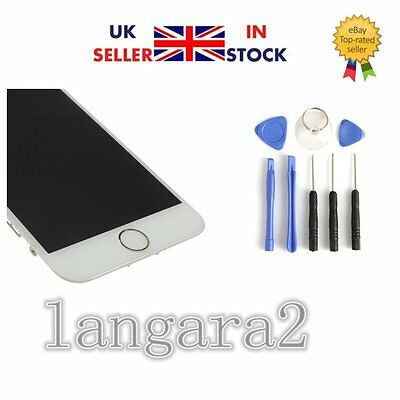 """White iPhone 6 4.7"""" Replacement Digitizer LCD Touch Screen Home Button &Camera"""