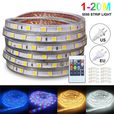 1M/2/M/3M/5M/10M/15M/20M RGB Waterproof Flexible Strip Light USB Lamp 60Leds/M