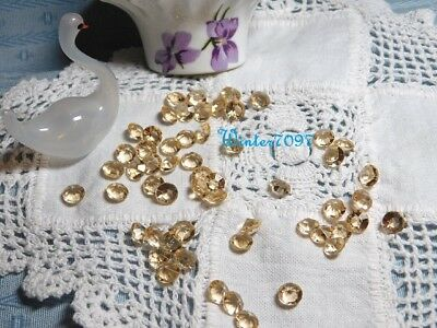 (167)*Costume Makers Sellout*Glass Scatter Jewels*Round*Champagne*New!*