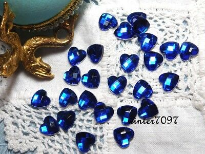(41)*costume Makers Sellout**flat Back Rhinestones*royal Blue*hearts*new!*