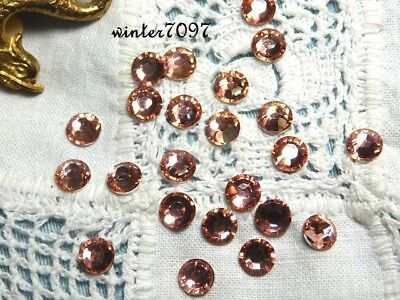 (96)*costume Makers Sellout**flat Back Rhinestone*pink*round*new!*