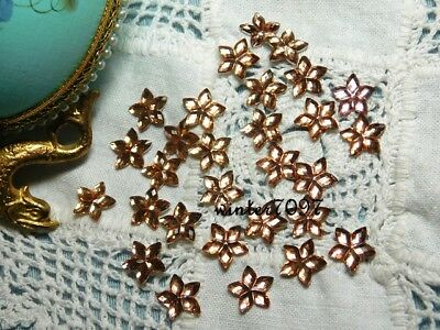 (6)*costume Makers Sellout**flat Back Rhinestones*champagne*star Flower*new!*