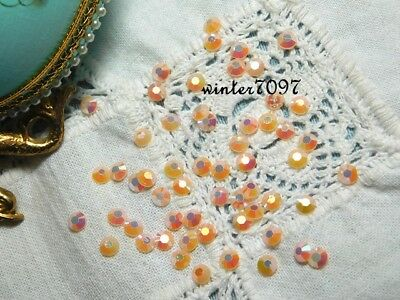 (99)*Costume Makers Sellout**Flat Back Jewels*Peach*Round*New!*