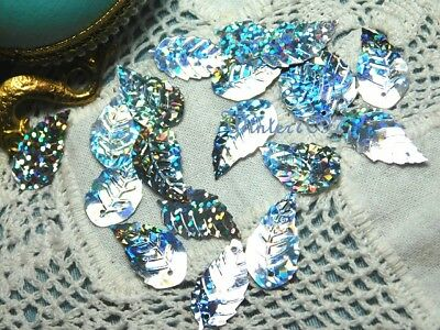 (160)*Costume Makers Sellout**Sequins**Silver Rainbow**Leaves*New!*