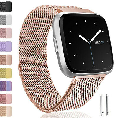For Fitbit Versa Strap Replacement Metal Milanese Watch band Wristband UK SELLER