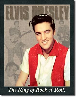 Elvis The King Vintage Tin Metal Sign Garage/Man Cave Wall Art
