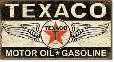 Texaco Motor Oil & Gasoline Vintage Tin Metal Sign Garage/Man Cave Wall Art