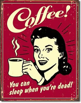 Coffee Vintage Tin Metal Sign Garage/Man Cave Wall Art