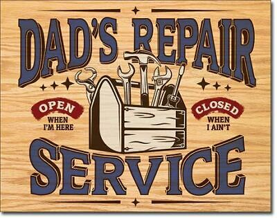 DAD's Repair Service Vintage Tin Metal Sign Garage/Man Cave Wall Art