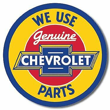 Genuine Chevrolet Parts Vintage Tin Metal Sign Garage/Man Cave Wall Art