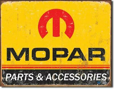 Mopar Parts & Service Vintage Tin Metal Sign Garage/Man Cave Wall Art