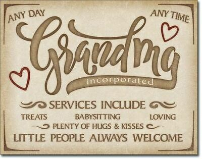 Grandma Services Include ...Vintage Tin Metal Sign Garage/Man Cave Wall Art