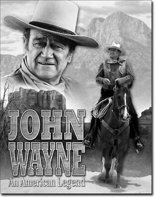 John Wayne Western TV Actor Vintage Tin Metal Sign Garage/Man Cave Wall Art